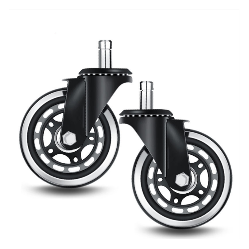 Factory Furniture Chair Castor Wheel Swivel 3 inch PU Roller Office Chair Caster Wheel replacement