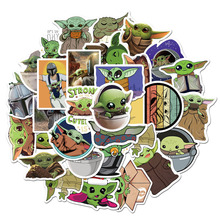 50 Pz/pacco <span class=keywords><strong>Personalizzato</strong></span> Die Cut Vinyl Sticker Impermeabile Stella Sticker Wars Yoda <span class=keywords><strong>Del</strong></span> Bambino