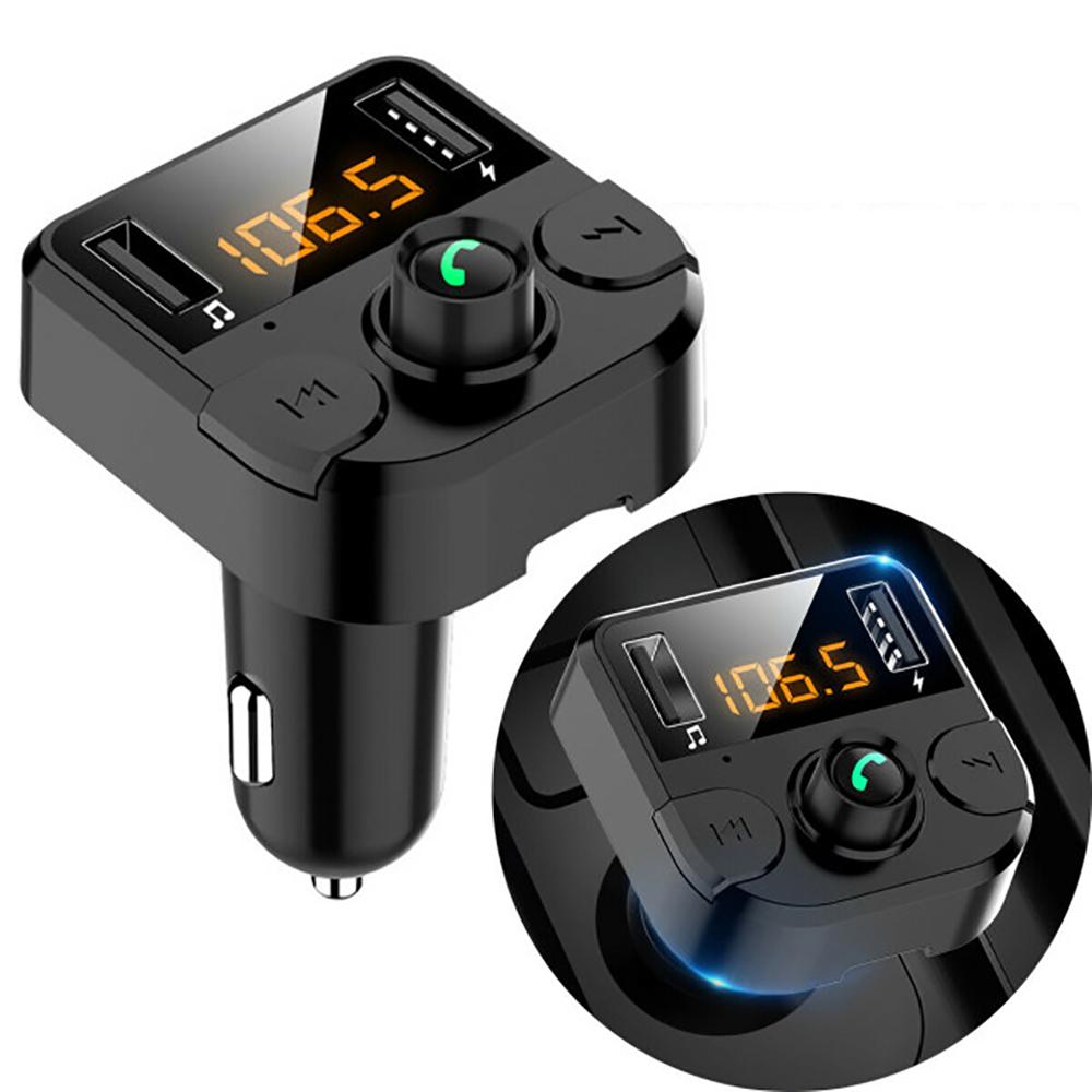 Bluetooth 5,0 Auto Kit Hand Frei Anruf FM Transmitter Dual USB Auto Ladegerät 3,1 EINE TF Karte MP3 Musik Player