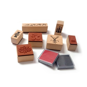 DIY Crafts Card Making Stamps Set Wood Mounted Rubber Stamps for Card Making Card Making Stamps Set