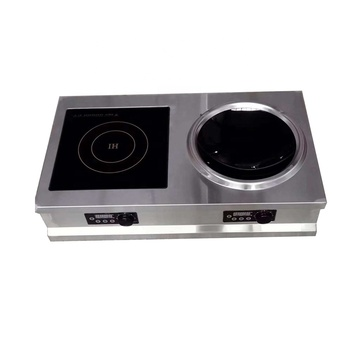 Double Ring Two Burners Cooker Induction Cooktop With Wok Type Induction 3500W