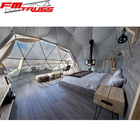 1/3 big clear window dome tents glamping camping tents for resort