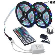 Светодиодный ленточный светильник s RGB, светодиодный светильник 3528 SMD, гибкий изменяющий цвет, светильник для дома, светильник для украшения ...(Китай)