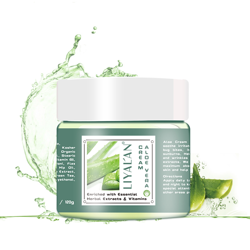 Fast delivery LIYALAN100% skin care pure natural organic anti aging face aloe vera <strong>cream</strong>