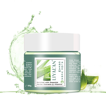Fast delivery LIYALAN100% skin care pure natural organic anti aging face aloe vera cream