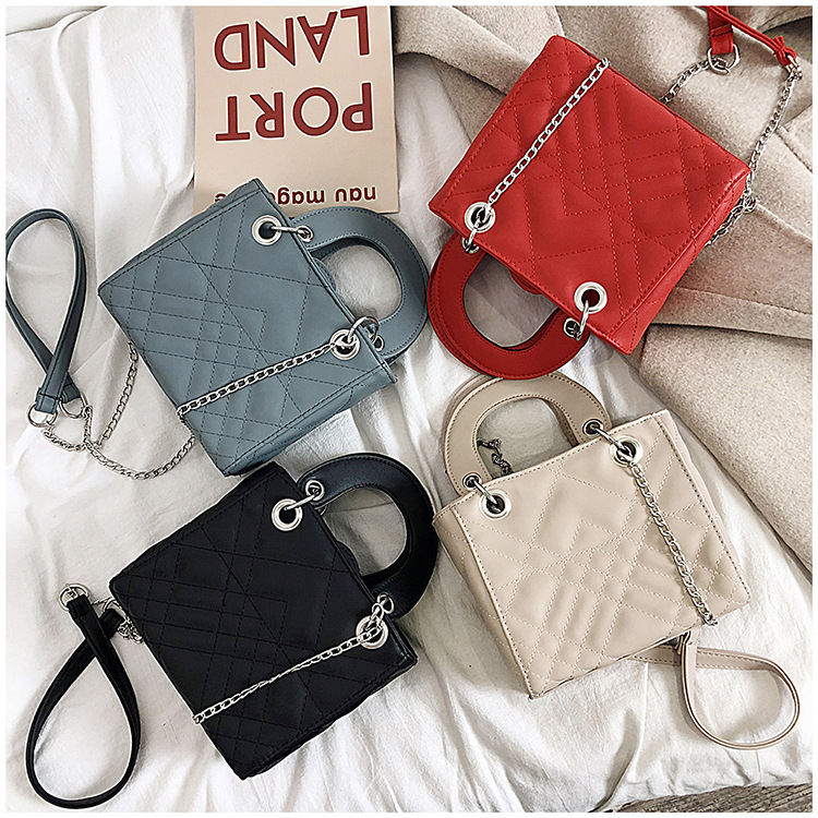 Women Mini Bag Handbag Cute PU Leather Women Small Solid Color Tote Bags