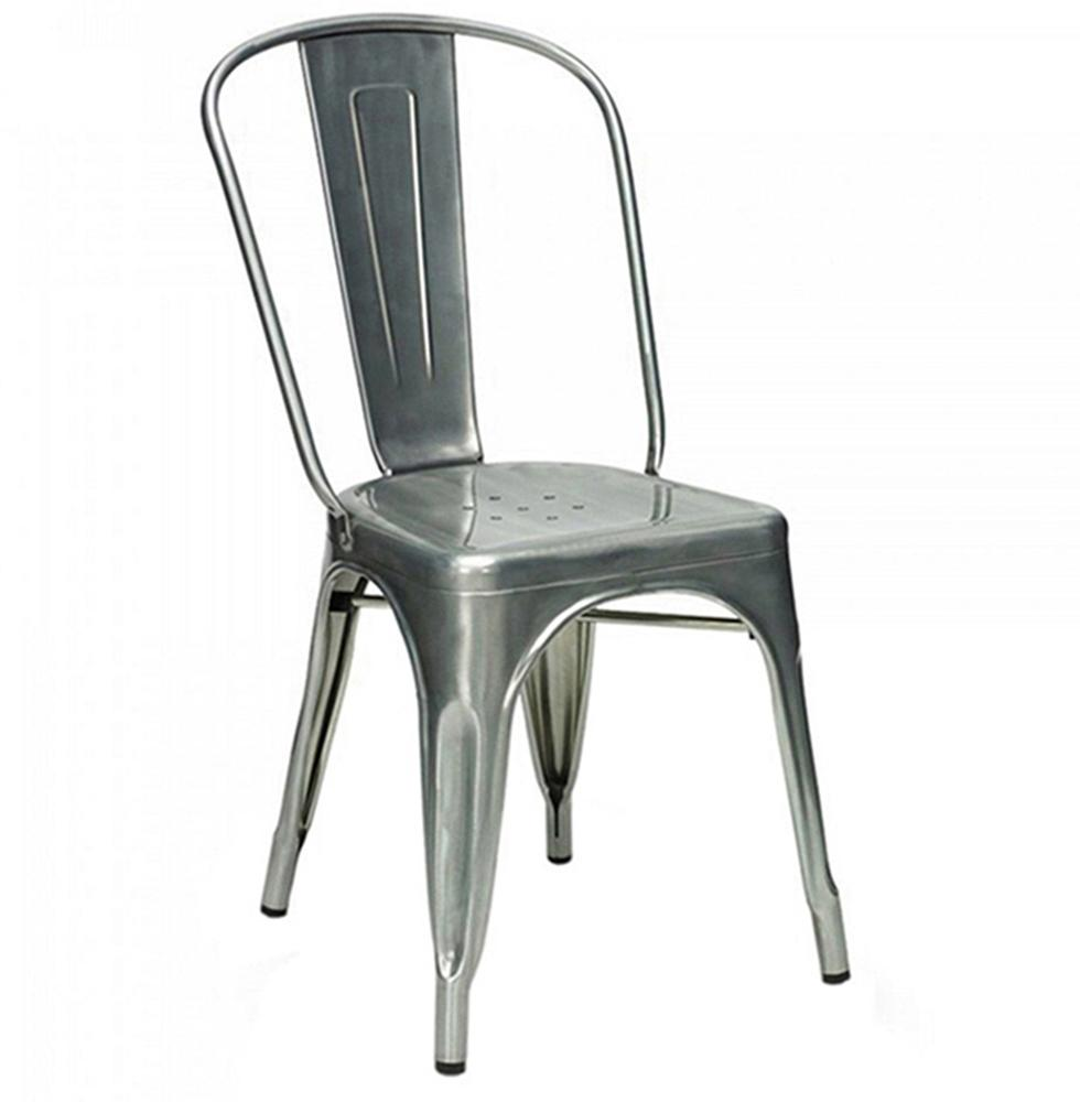Factory wholesale Silla tolixs Chair Metal Dining Chair Stackable Metal Chair