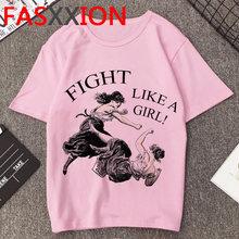Новая женская футболка, Женская забавная фуммер, топ, футболка в Корейском стиле, GRL PWR, графическая Футболка для девочки, мощность размера пл...(China)