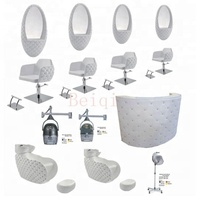Top sell modern salon furniture sets cheap styling barber chair used white hairdressing chair for sale