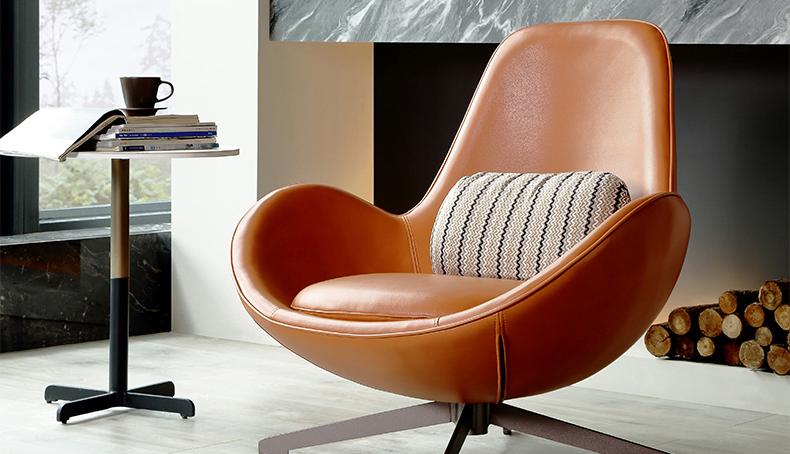 Ei form freizeit stuhl moderne hotel revolving stühle leder wohnzimmer einfach stühle