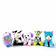 Glitter grandi occhi <span class=keywords><strong>peluche</strong></span> arcobaleno di colore animale di pezza <span class=keywords><strong>peluche</strong></span>