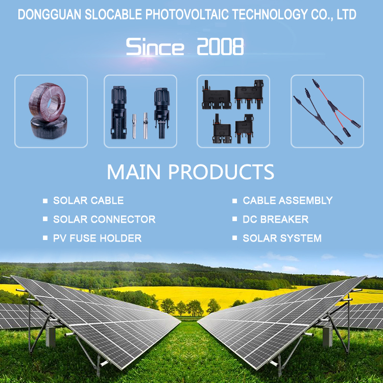 Solar DC connector for 2.5mm 4mm 6mm 10mm Cable