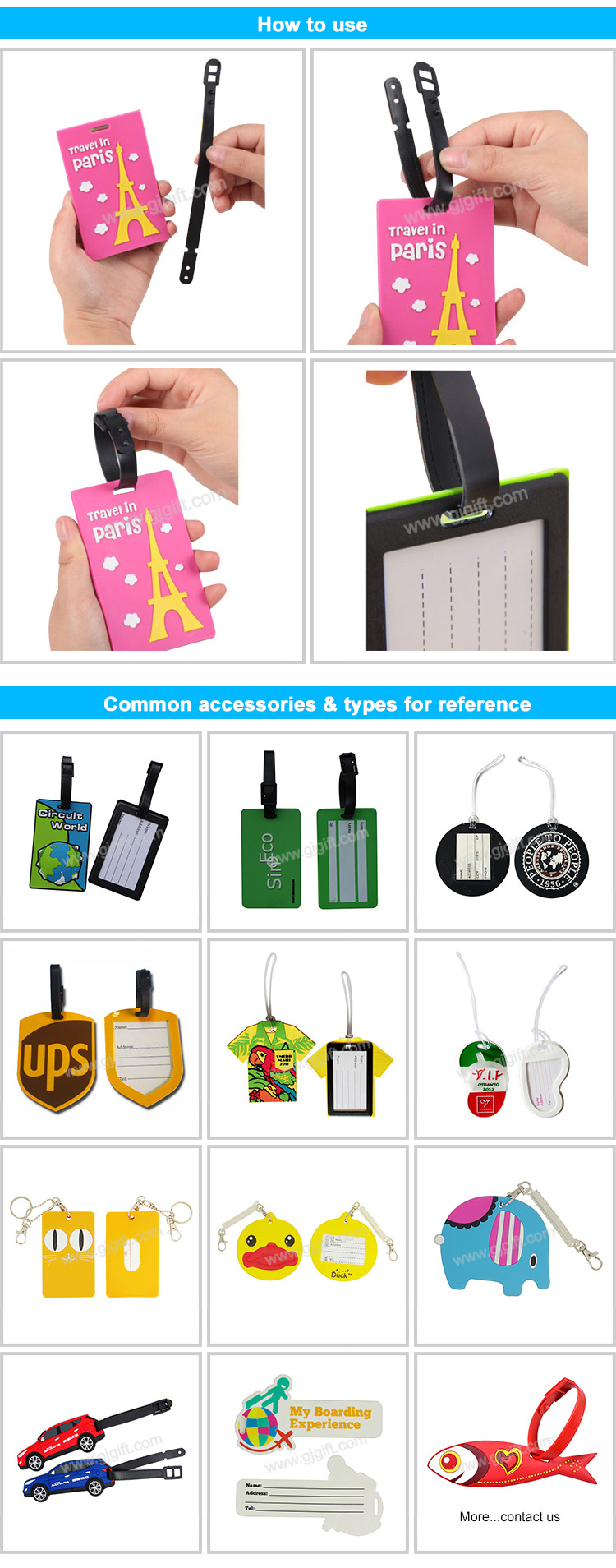 customize printed pvc soft luggage tag 3d custom plastic logo tags wholesale rubber travel embossing with cheaper silicone set