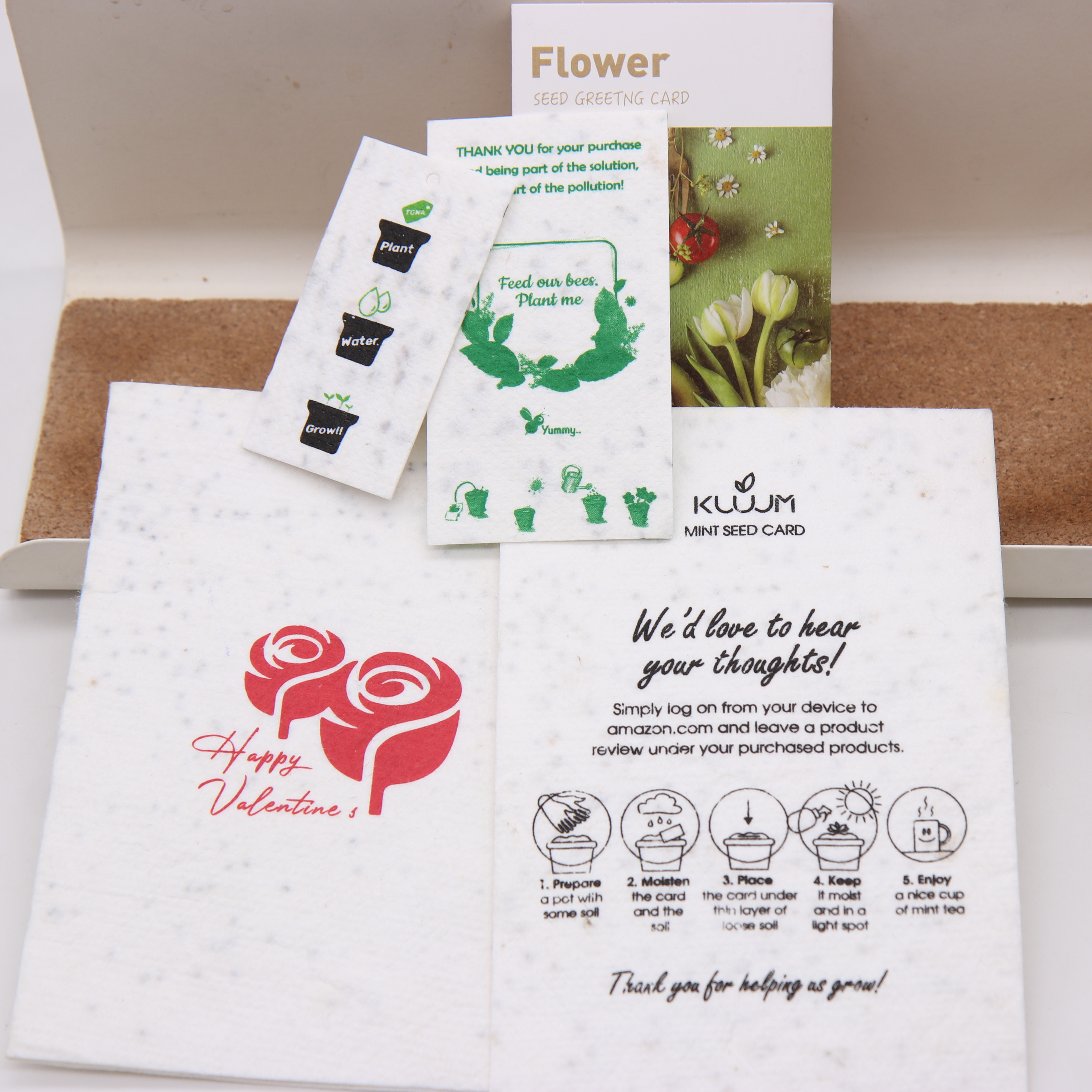 plantable seed paper card with customer logo