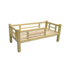 Furniture Wood Kindergarten Furniture Children Solid Pine Toddler Single Bed