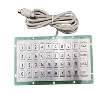 40 key waterproof usb industrial metal mechanical digital laser vending machine keyboard