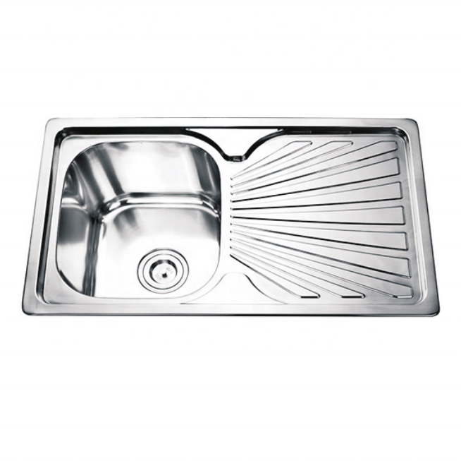 Factory manufacture one bowl one washing board stainless steel kitchen basin sink dishwasher