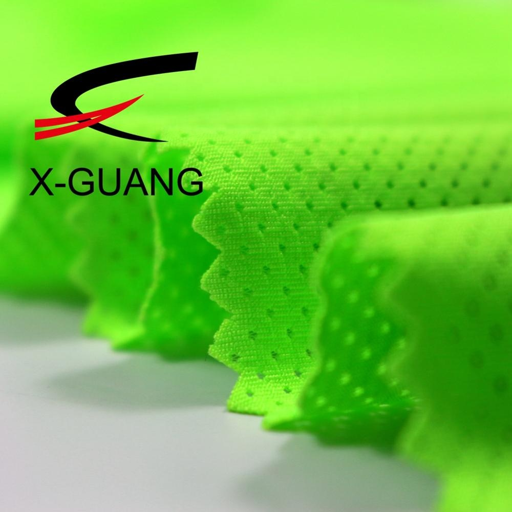 Fujian Fabricant 100 Polyester Jacquard Tricoté Ajustement Sec Coolpass Respirant Maille Tissu