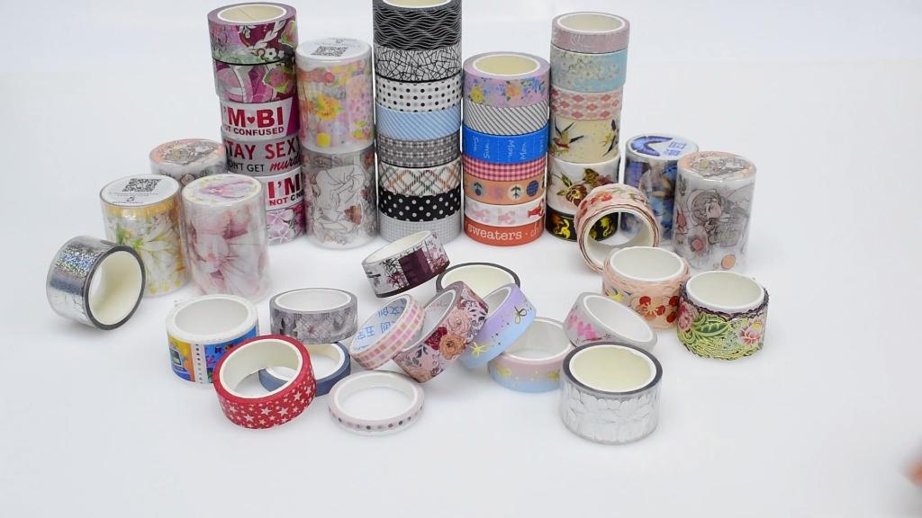 カスタム和紙ステッカーマスキング紙テープセット一括印刷サプライヤーメーカー金箔和紙テープカスタム