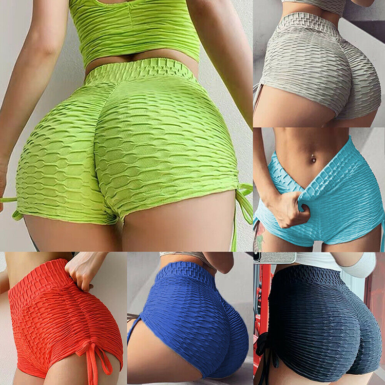 Yoga Sport Slimming Pure Color Bandage Butt Lift Women Short Leggings