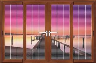 Topwindow Luxurious High Cost Automatic Blinds Inside Heavy Aluminum Wood Color Super Large Door Panel Lift Sliding Door
