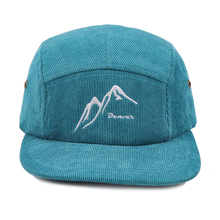 Plain Vintage <span class=keywords><strong>Corduroy</strong></span> 5 Panel Cap/<span class=keywords><strong>Hoed</strong></span>