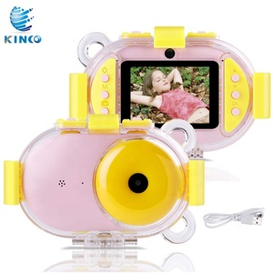 Kids Underwater Camera,1080P Super HD Waterproof Digtial Camera with 2.4'' IPS Screen 32G Rechargeable Selfie Video Camera