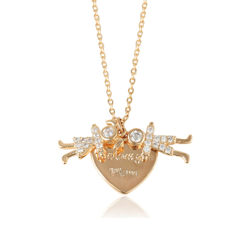 44494 xuping 2019  luxury women gold chain designs 18k gold plated Cute little angel angel pendant necklace