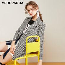 Vero Moda новый женский двубортный пиджак в клетку с лацканами | 319308586(Китай)