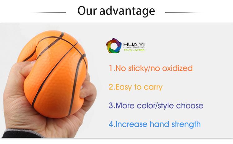 ส่งเสริมการขายโลโก้ที่กำหนดเอง Antistress บอลบีบ Emoji PU ความเครียด Ball,โฟม PU ความเครียด Ball ฟรีตัวอย่าง