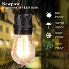 String Wedding Outdoor Waterproof Globe Edison Bulb Festoon LED String Lights Garland Wedding Party Christmas Decorative Lamp Decoration Light