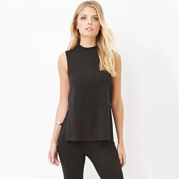 <strong>Women's</strong> plain split crop <strong>top</strong>, summer sleeveless vest <strong>women</strong> <strong>tank</strong> <strong>top</strong>