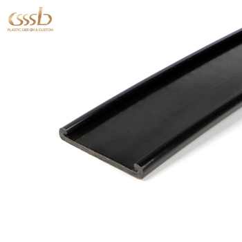 Plastic u profile extrusion channel for machine edge protection with custom sizes