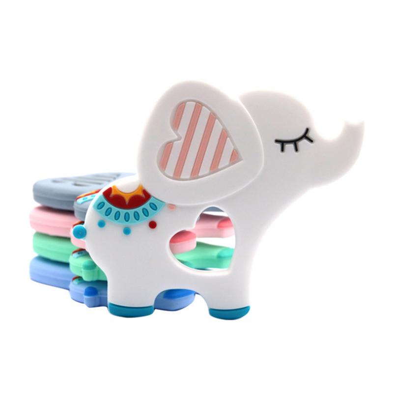 Eco-Friendly Food Grade Soft Animal Elephant Silicone Baby Teether Chew Toy