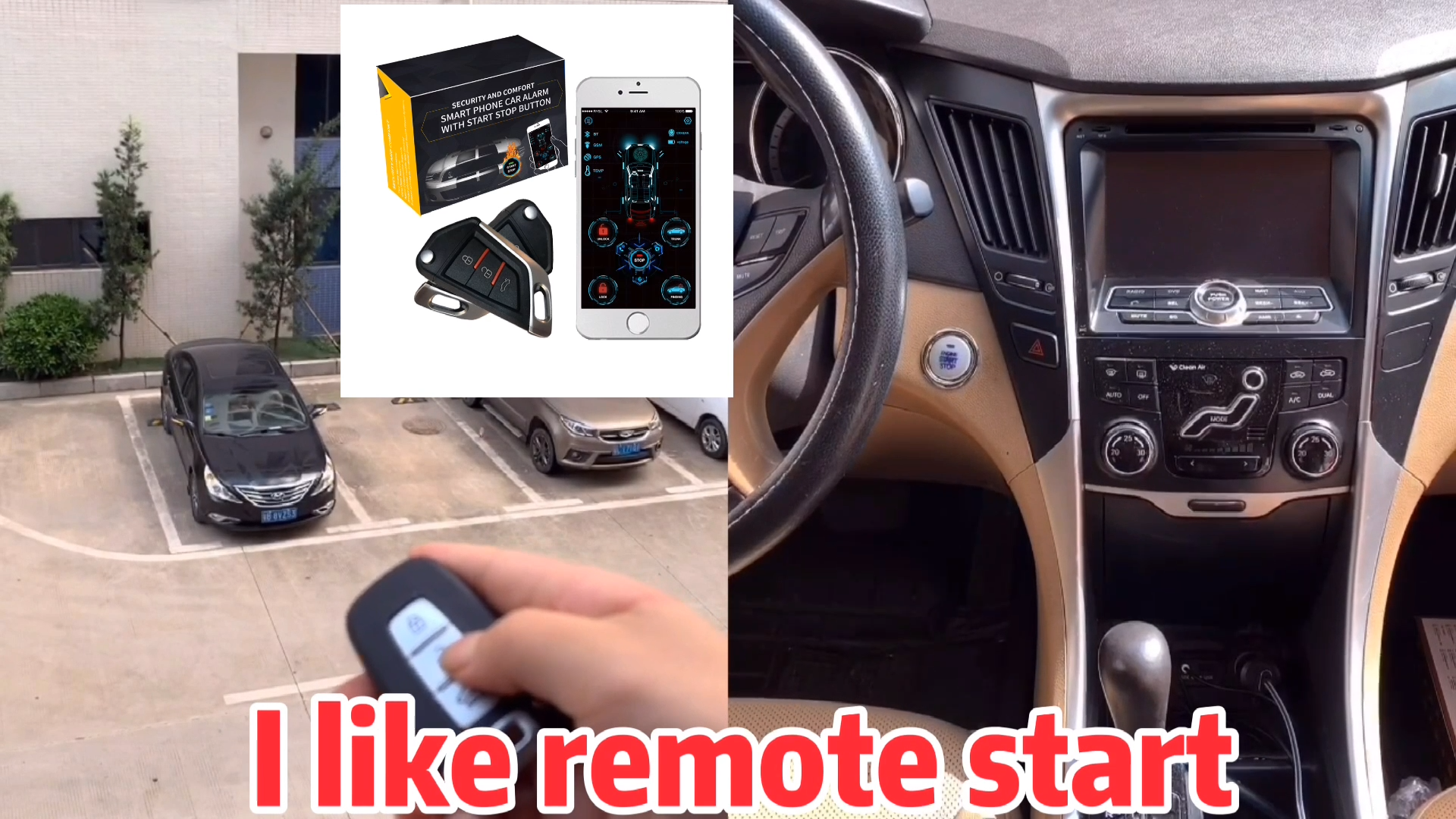 2020 New Cardot Remote Engine Start Stop Passive Keyless Entry System Car Alarm