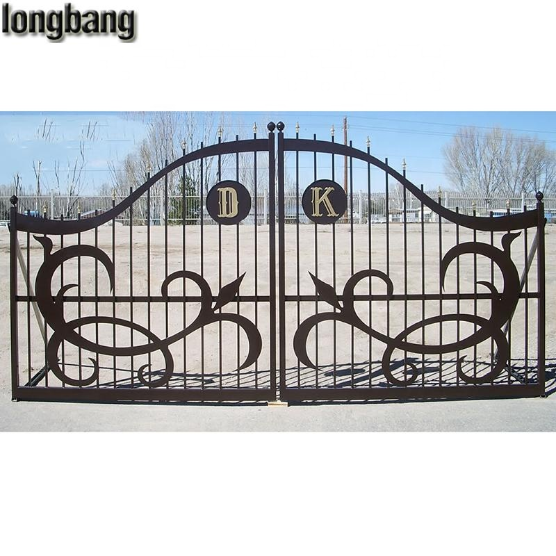 simple modern sliding entrance wrought iron main gate design for home