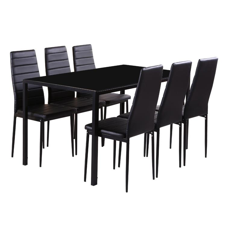 नि: शुल्क नमूने टेम्पर्ड बढ़ाई डिजाइनर शीर्ष तह समकालीन 4 सीटर शीसे रेशा कांच खाने की मेज