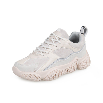 various styles newest collection designer fashion Women's Platform Sneakers Leather Mesh Women Chunky Sneaker 2019 Fashion  Thick Sole Woman Dad Shoes Ladies Flat Footwear - Buy Designer Sneakers ...