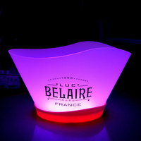led light wine or water cooler ice bucket