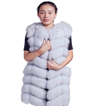 New Fashion Natural Fur Waistcoat Winter Warm fake Fur Vest For Women Outwear