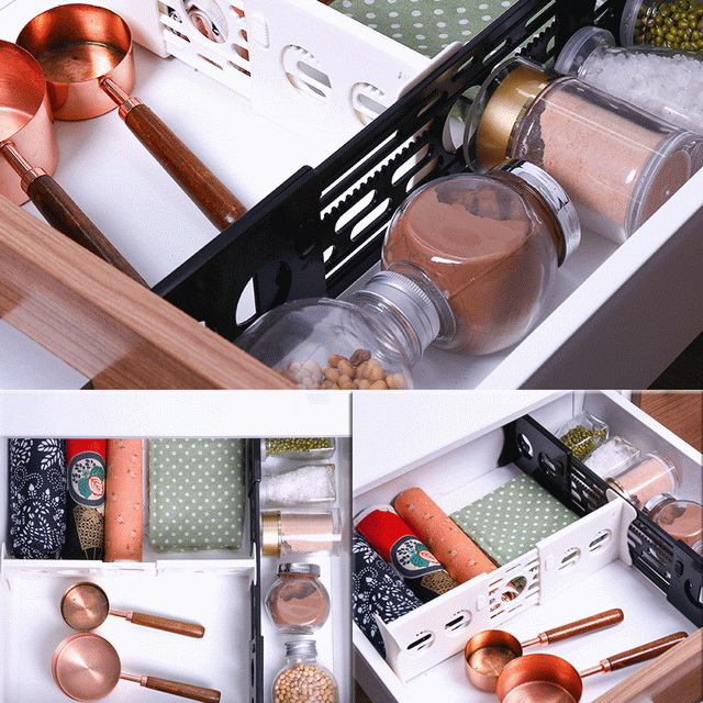 Expandable Kitchen Drawer Divider Adjustable Drawer Organizer Divider