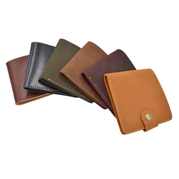 TH push button leather slim nubuck leather men  id  rfid blocking cowhide wallet