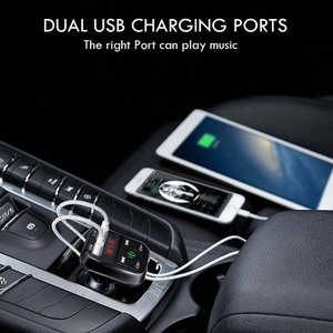 B2 Hands Free Car Kit Wireless Bluetooth FM Transmitter MP3 Player LED Dual USB 2.1A Car Micro SD TF Music Player
