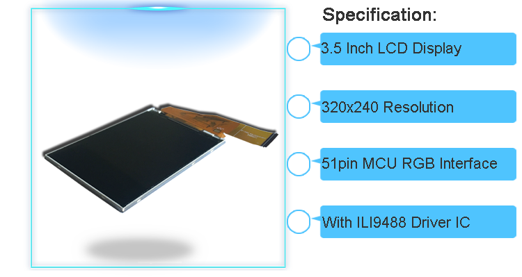 lcd panel with MCU interface