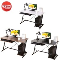 Simple Modern Desktop Computer Desk Z-shape Home Office Table Study Desk