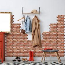 Домашний декор 30*30 см Новый 3D стерео кирпич узор плитка настенная бумага рулон гостиная спальня ресторан фон Лофт 3d настенная бумага(Китай)