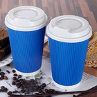 Disposable Ripple Wall Paper Carton Takeaway Coffee Cup