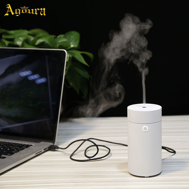 Portable mini cylindrical small car usb plug essential oil moisturizing special aroma spray humidifier