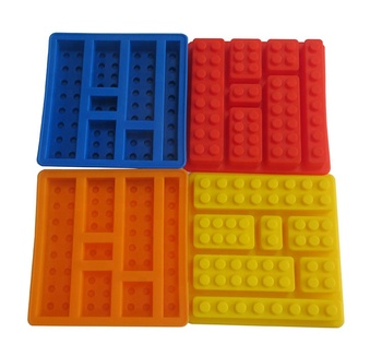 1PCS Square Ice Cube Mold Silicone Bricks Tray Frozen Jelly Mold Chocolate DIY Maker