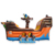 Pirate Ship Inflatable Slide, Commercial Bouncy Jumping Castle Bouncer Pirate Ship Theme Castle Kids Playground Outdoor